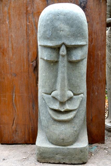Moai Osterinsel Gartenfigur aus Stein